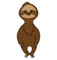 cute sloth in a cartoon style vector image