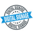 digital signage round grunge ribbon stamp vector image vector image
