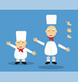 editable cartoon senior chef for animation vector image vector image