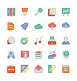 Education Flat Colored Icons 2 vector image vector image