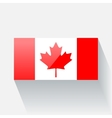 Flag of Canada vector image vector image