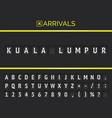 flight info banner board with kuala lumpur typed
