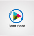 food video with play icon colorful logo element vector image vector image