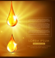 golden drops of oil golden serum vector image