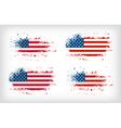 Grunge american ink splattered flag vector image vector image
