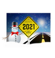 happy new year 2021 and christmas greetings with vector image vector image