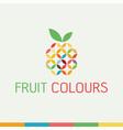 healthy organic eco vegetarian food logo vector image vector image