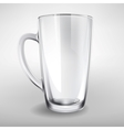 high glass empty realistic cup vector image