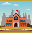 high school building vector image