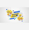 holiday sale chat face emoticon business template vector image