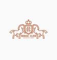 horse club logo vector image vector image