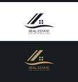 house logo design concept vector image vector image