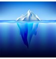 Iceberg in water background vector image vector image