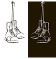 image with shoes vector image vector image