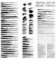 ink brush flourishes vector image