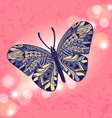 Insects butterfly bokeh vector image vector image