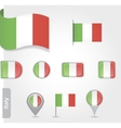 Italy flag icon set vector image vector image