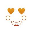 kawaii face expression facial gesture cartoon vector image