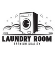 laundry logo emblem design element vector image