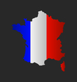 map of france with flag vector image vector image