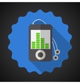 Music MP3 Equalizer Player Flat Icon vector image vector image
