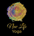 new life yoga vector image