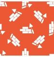 Orange building wall pattern vector image vector image