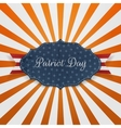 Paper Card Template with Patriot Day Text vector image vector image