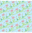 pattern with stylized flowers and bees vector image vector image