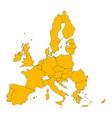 political map european union eu member states vector image vector image