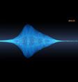 pulsation signal vector image vector image