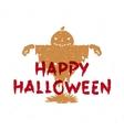 Pumpkin scarecrow vector image