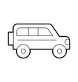 safari van isolated icon vector image vector image