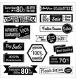 Sales promotion set in retro vector image vector image