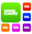 school bus set color collection vector image vector image