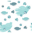 seafood hand drawn seamless pattern vector image