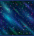seamless background confetti in space vector image