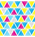Seamless geometric doodle pattern vector image vector image