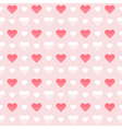Seamless pattern cute red and white hearts on a vector image