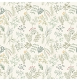 Seamless pattern of flowers herbs and leaves vector image vector image