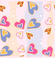 seamless pattern of multi-colored hearts on a vector image vector image