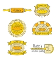 Set of badges labels design elements and vector image vector image