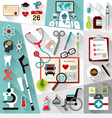 Set of medical flat design concept icons for web vector image vector image