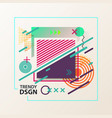 simple geometric cover design with shapes vector image
