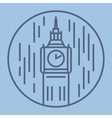 simple line drawn of london big ban vector image