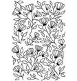 sketch floral pattern vector image vector image