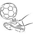 soccer ball sketch kick ball with football vector image