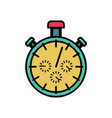 stopwatch symbol flat design detect time sports vector image