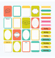 template for notebooks cute design elements in vector image vector image