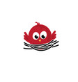 template icon bird in nest vector image vector image